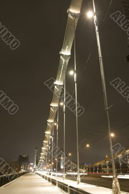 Bridge with illumination in the night