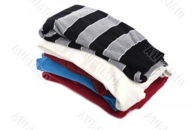 Colored jumper on white closeup