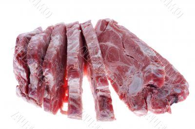 Cutting pork
