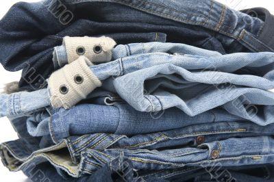 jeans on white closeup