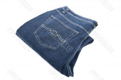 jeans on white macro