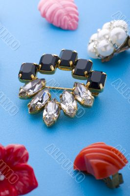 jewel brooch and earring