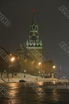 Kremlin Tower in night