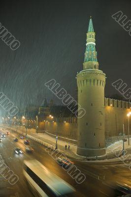 Kremlin Tower in the night
