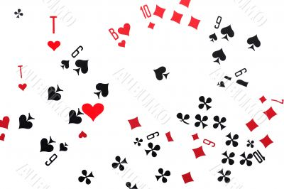 leisure card game isolated on white close up