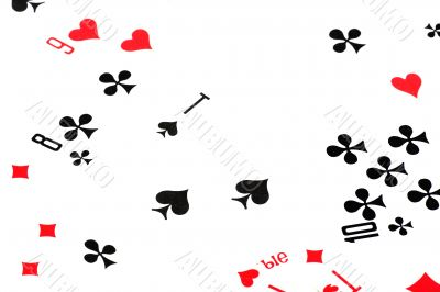 leisure card game isolated on white macro