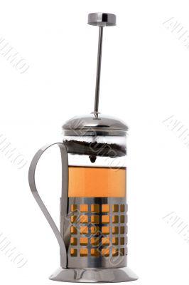 press coffee maker with tea