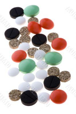 tablets vitamin on white