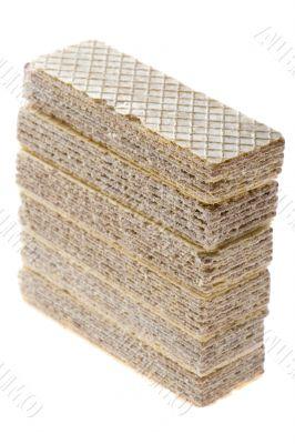 wafer isolated on white background