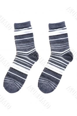 Wool socks on white