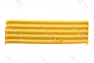 Yellow plasticine