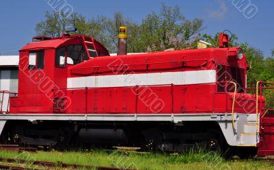 VintageRed Locomotive