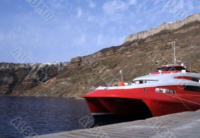 Catamaran in the Port