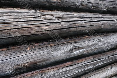 Detail of Log House Wall