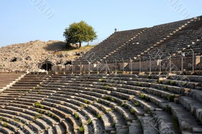 Rows of Ancient Theater in Ephesus