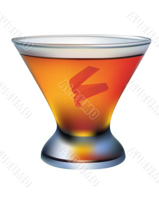 a cocktail glass of orange
