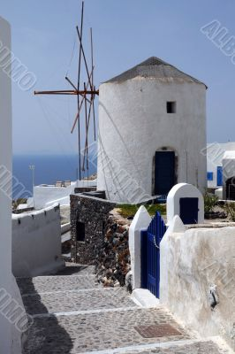 Windmill in Oia Village
