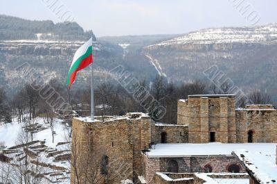 Flag over Tsarevets Fortress
