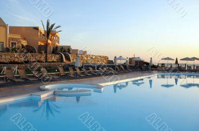 Hotel Recreation Area on Crete Island