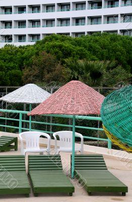 Sun Terrace and Hotel in Turkey