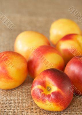 Bunch of ripe nectarine peaches