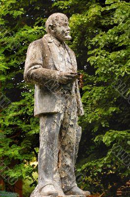 Shabby Monument to Lenin