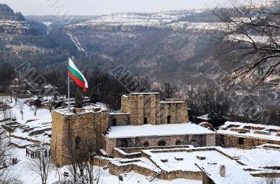 Flag over Tsarevets Stronghold