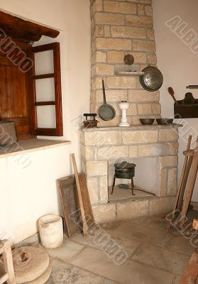 Cyprus old village house interior.