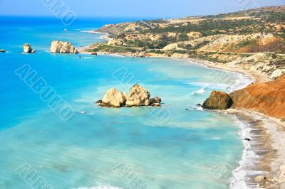 Aphrodite`s legendary birthplace in Paphos, Cyprus.