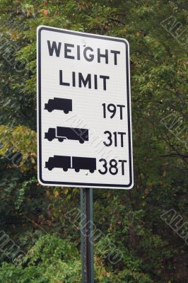 Truck Weight Limit Sign