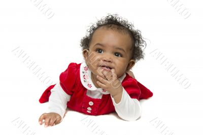 Amused baby girl
