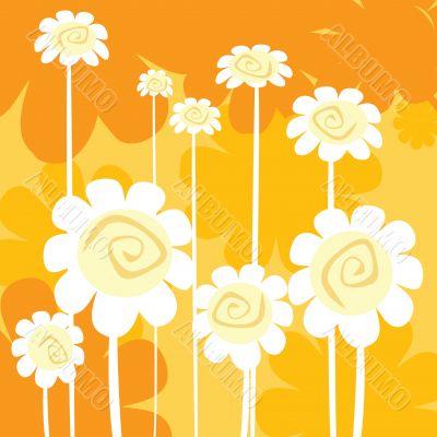 art deco floral card