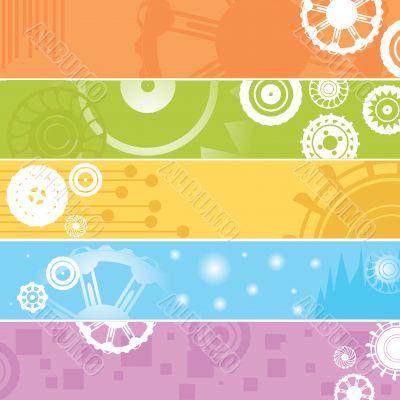 web banners, gears