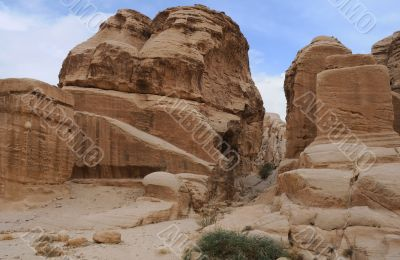 In the Mountains of Petra in Jordan