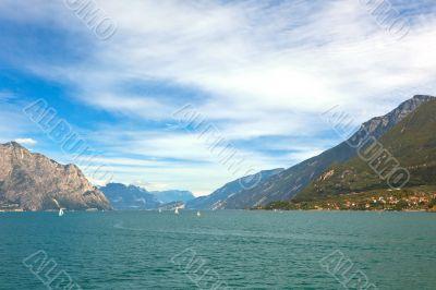 View Over Garda Lake in Italy