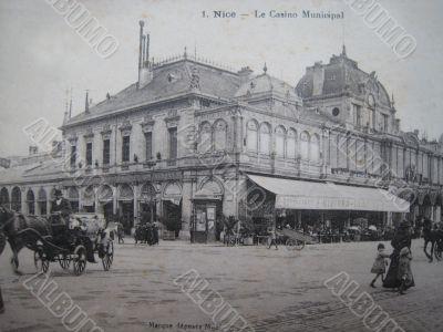 vintage postcard of Nice