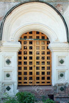 Doors to Church Under Renovation