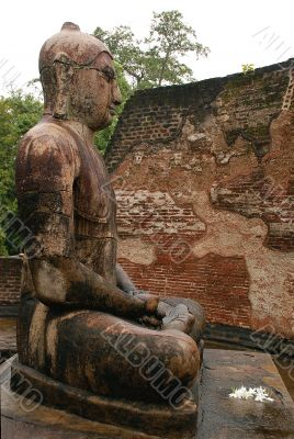 Statue of Seated Buddha in Vatadage Temple, Polonnaruwa