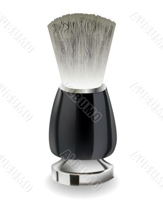 shaving brush with black handle