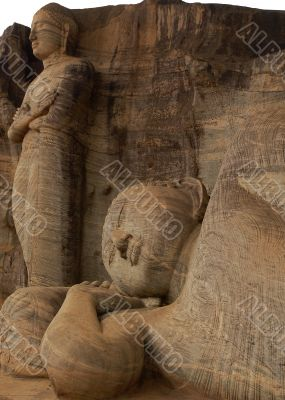 Reclining Buddha and Chief Disciple