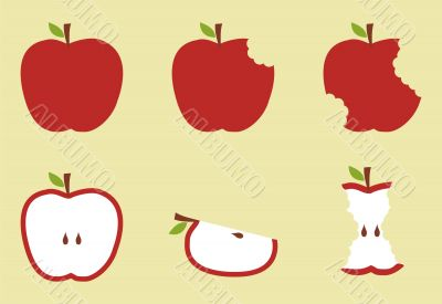 Red apple pattern illustration