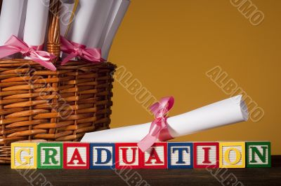 Wooden blocks `Graduation`
