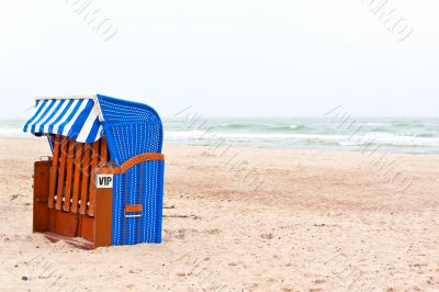 Beach chair in northern germany