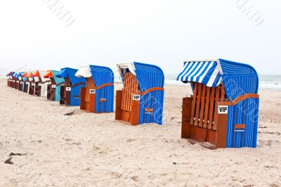 Beach chairs in northern germany