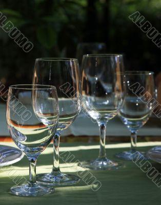 Glasses at restaurant