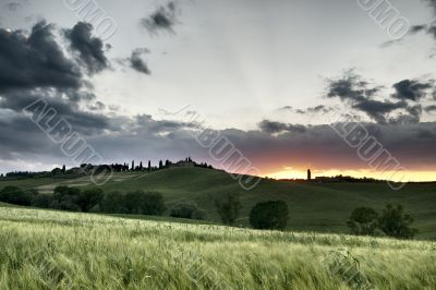 Sunset in Corsanello - Tuscany