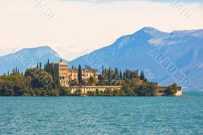 Palace on Lake Garda in Italy