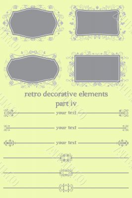 Retro Decorative Elements IV
