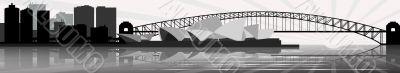 Sydney skyline - banner - vector