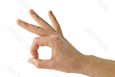 Woman gesturing OK with her hand